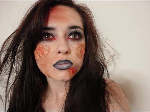 ▶ Halloween Tutorial Dead Girl/School Girl/Zombie Girl - YouTube