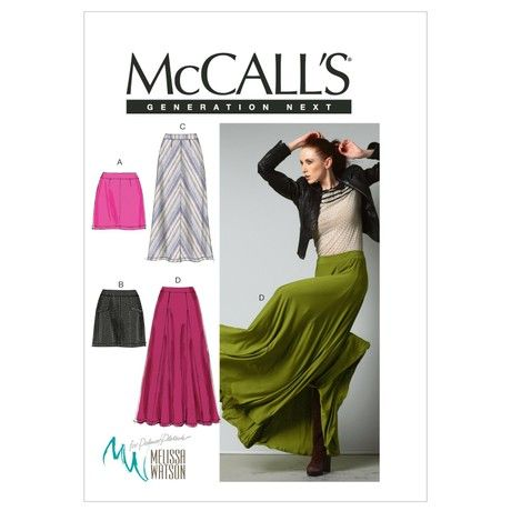 McCall's Patterns M6608 Size D5 12-14-16-18-20 Misses' Skirts, Pack of 1, White