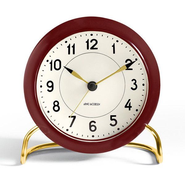 Rosendahl Station Alarm Clock ($145) ❤ liked on Polyvore featuring home, home decor, clocks, contemporary home decor, contemporary clocks, black clock, contemporary alarm clock and snooze alarm clock