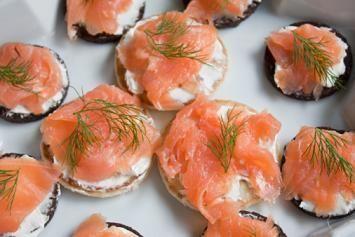 Russian: Smoked Salmon and Potato Blinis Recipe. Traditional Russian recipe.