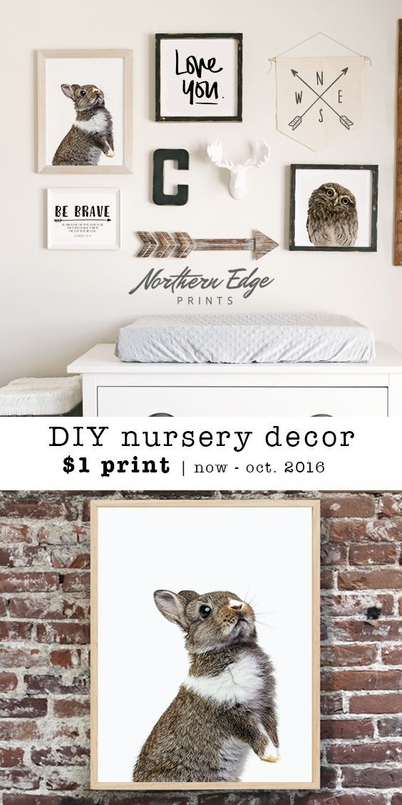 From nursery room decor, to living room photo galleries, Norther Edge has high quality printable prints for your DIY home decor ideas. These do it yourself art galleries, bring life to your walls in an affordable, low cost manor: Minimalist baby animal art, printable nursery decor, inspirational quote, nursery wall decor, rustic forest print, baby room decor, nursery decor, baby animal, baby owl, be brave art, be brave printable décor, be brave nursery decor, northern edge, northernedge…