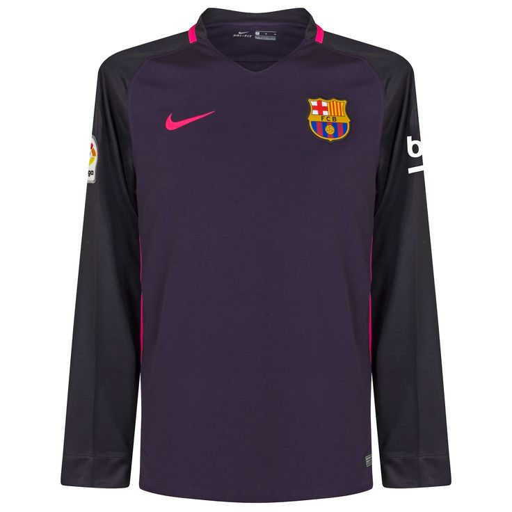 Barcelona Shirt Uit 2016-2017 (Lange Mouwen)