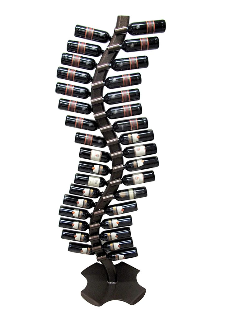 "Vitis (cod. VI32) Vitis is a bottle holder born from the idea of recreating the plant the vine that produces the grape.The metal structure, from particular shape ""to S"", gives it elegance and harmony with the space surrounding. Vitis can support until 32 bottles. For many info contact me."