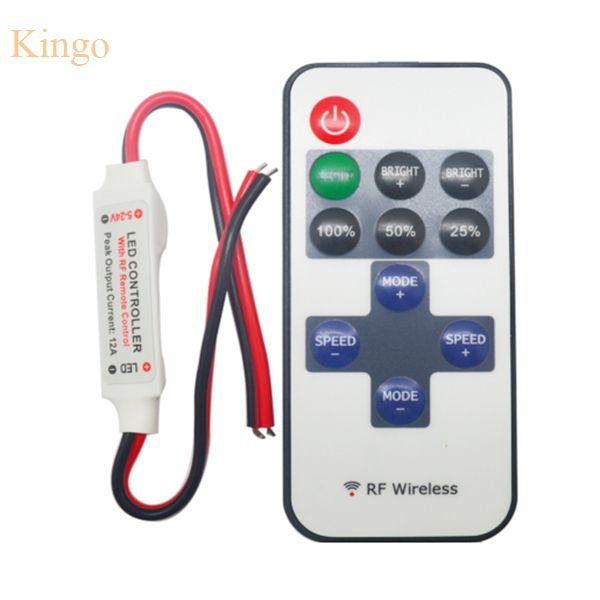 Mini Dc 12 V Led Controleur Dimmer 6a Sans Fil Rf A Distance Pour Controler Seule Couleur Eclairage De B Led Strip Lighting Light Accessories Led Dimmer Switch