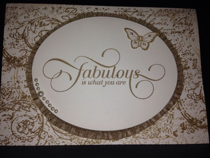 Fabulous is what you are Stampin Up