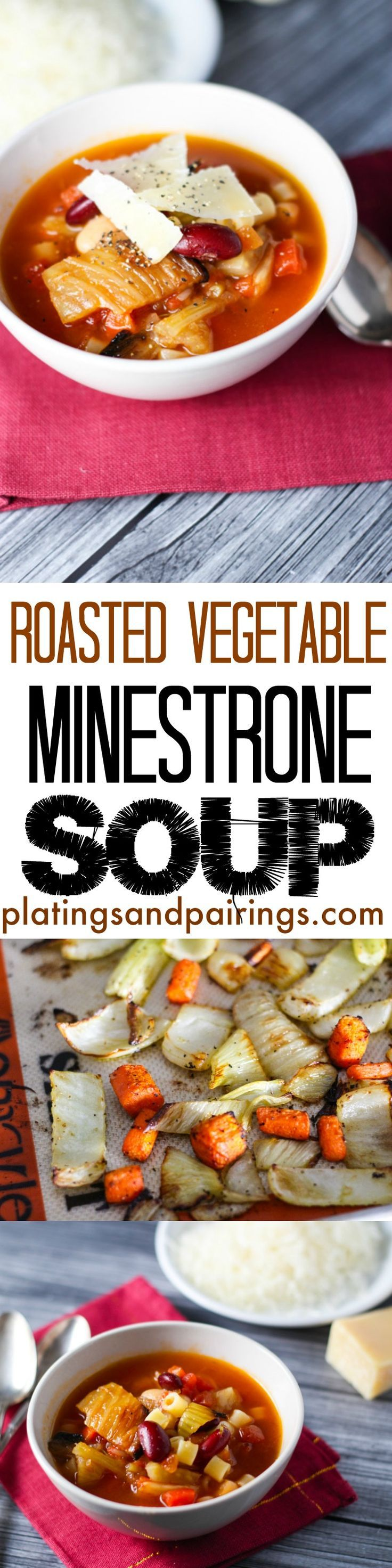 Roasted vegetables make this soup EXTRA delicious! Fennel and Carrots