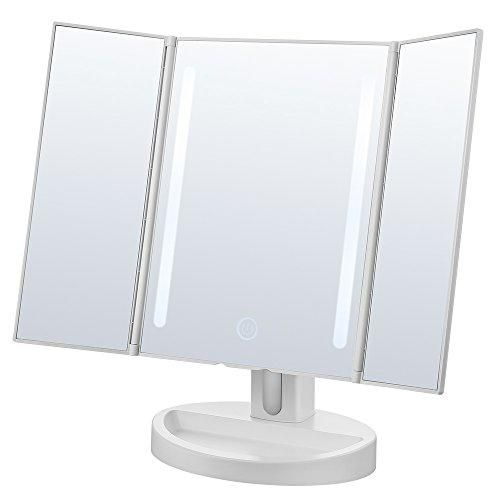 Oferta: 35.99€. Comprar Ofertas de Jerrybox Espejo Cosmético en Tríptico con Pantalla Táctil Plegable, Iluminación LED | Espejo de Maquillaje con 16 LEDs Natura barato. ¡Mira las ofertas!