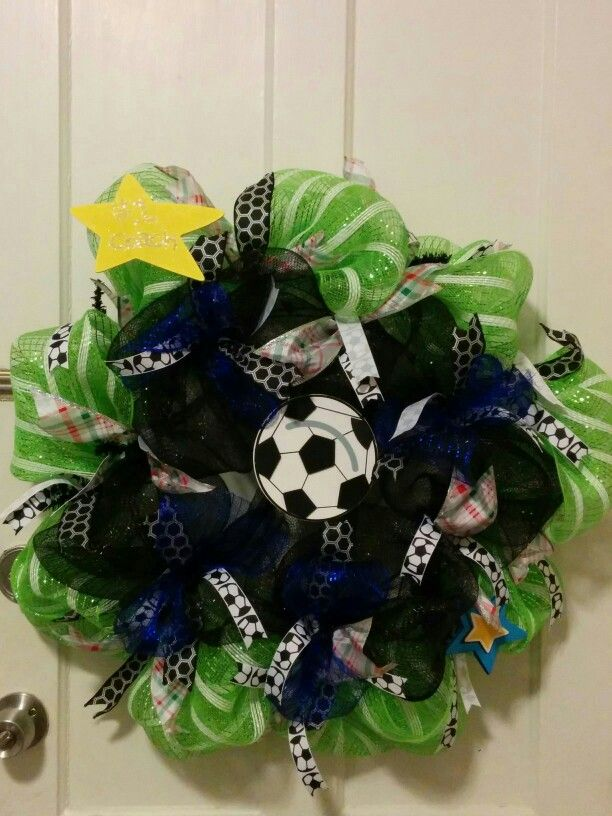 soccer coach deco mesh wreath wreaths pinterest. Black Bedroom Furniture Sets. Home Design Ideas