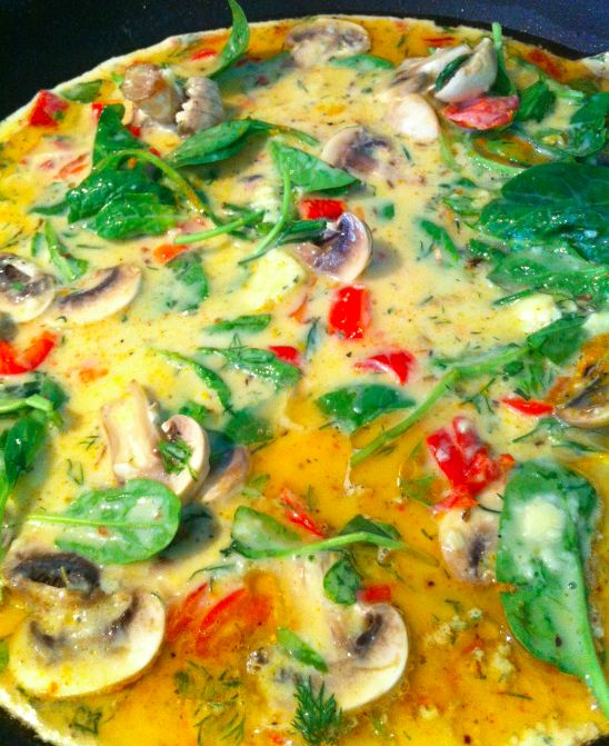 Wonderful healthy omelette! I will be making this for breakfast tomorrow morning.