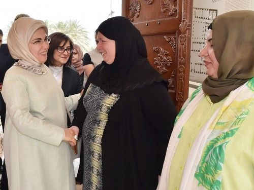 First Lady Visits Sadu House in Kuwait