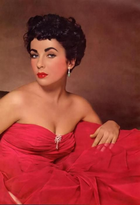 Elizabeth Taylor: 1950S, Elizabeth Taylors, Vintage Glamour, Dresses, Elizabethtaylor, Hot Pink, Portraits, Liz Taylors, Old Movie