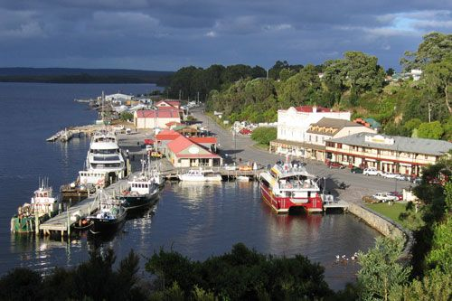 The picturesque little town of Strahan at the mouth of the Gordon River on the west coast of #Tasmania #Australia