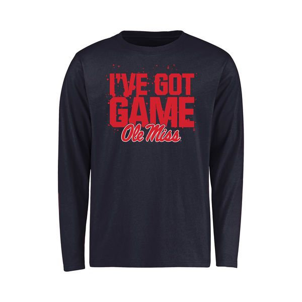Ole Miss Rebels Youth Got Game Long Sleeve T-Shirt - Navy - $21.99