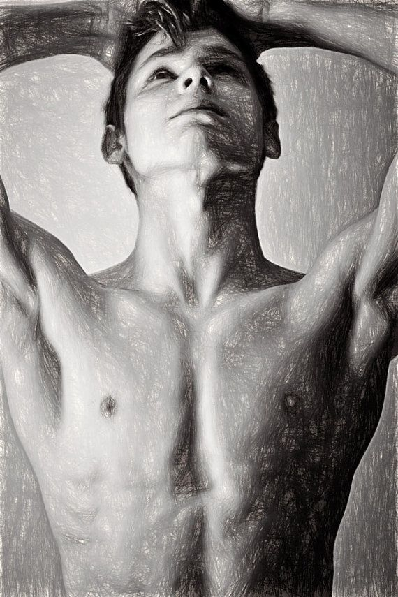 Bryce Wikman Up Gay Art Male Art Digital by MichaelTaggartPhoto