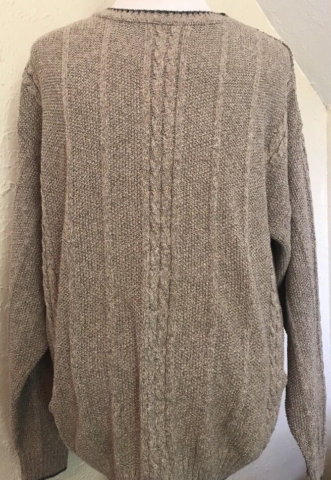 Mens Woolrich Crewneck Cableknit Sweater Made In Usa Size Xl