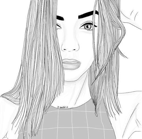 dessins de fille tumblr   vêtements, dessiné, dessin, oil, sourcils, yeux, mode, fille, filles ...