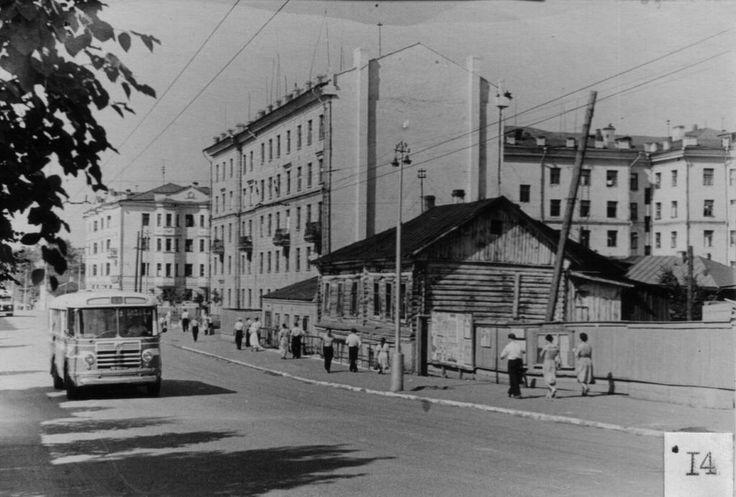 Пупырёвка (площадь Труда). Старые дома бывшей Пупырёвки. 1960 год.