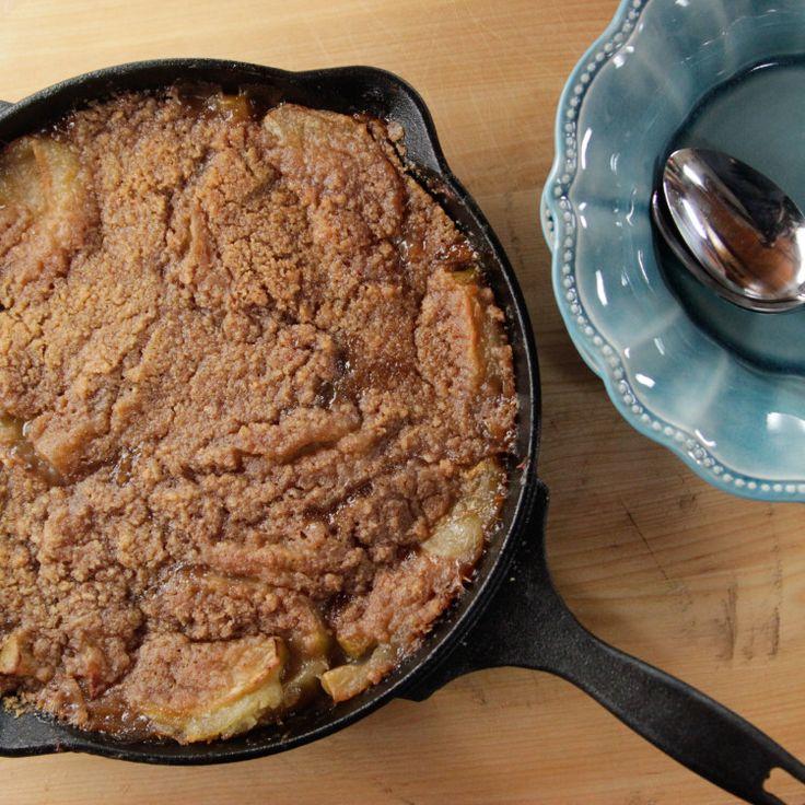 Skillet Apple Crisp   Recipe   Food network recipes. Apple crisp recipes. Skillet apple crisp recipe