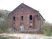 The abandoned power house at the old Glamorgan Colliery, Llwynypia, a strategic target of protestors during the Tonypandy Riots/Cambrian Colliery Dispute