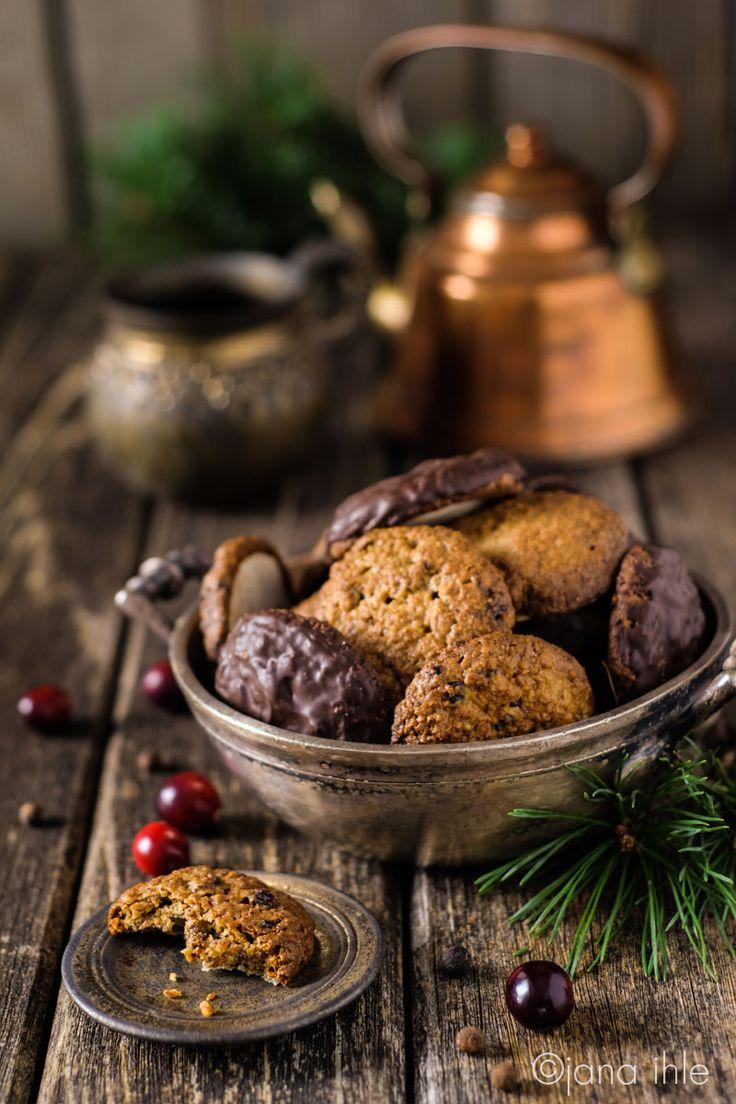 Lebkuchen zu Weihnachten Cranberry-Walnuss-Lebkuchen glutenfrei ohne Mehl Elisenlebkuchen
