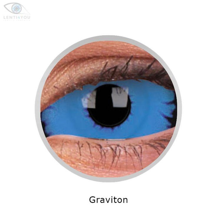 Lenti a contatto colorate blu LENTI SCLERALI GRAVITON 22mm SCLERA tutto l'occhio | SCLERA LENSES| HALLOWEEN | Lenti4YOU