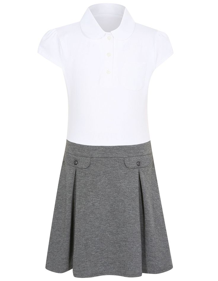 Girls School 2 in 1 Jersey Dress – Grey   School   George at ASDA