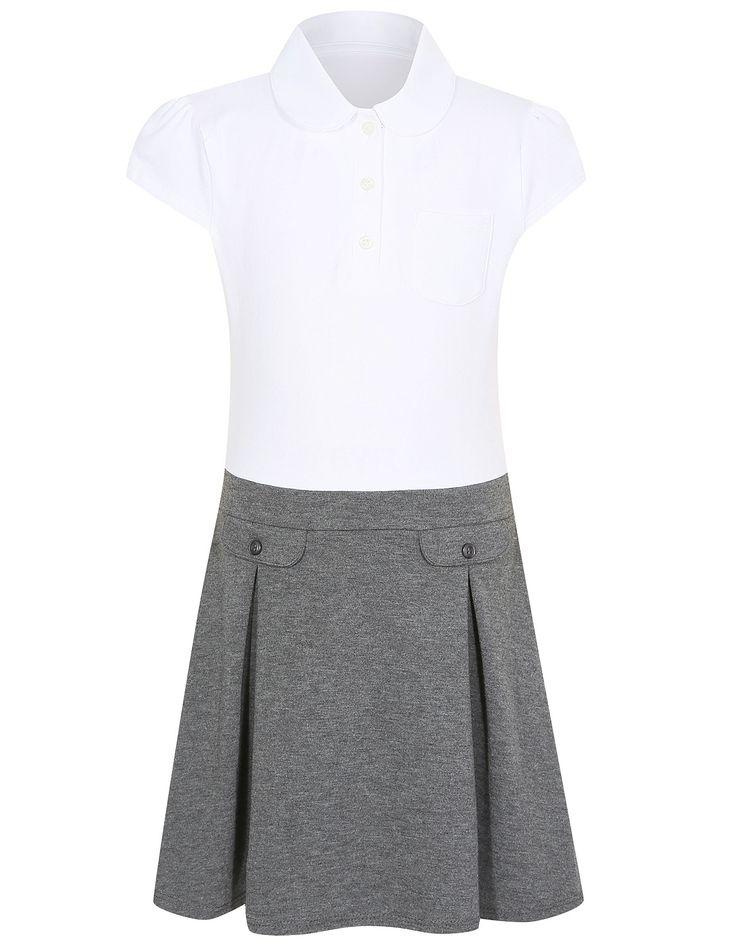 Girls School 2 in 1 Jersey Dress – Grey | School | George at ASDA
