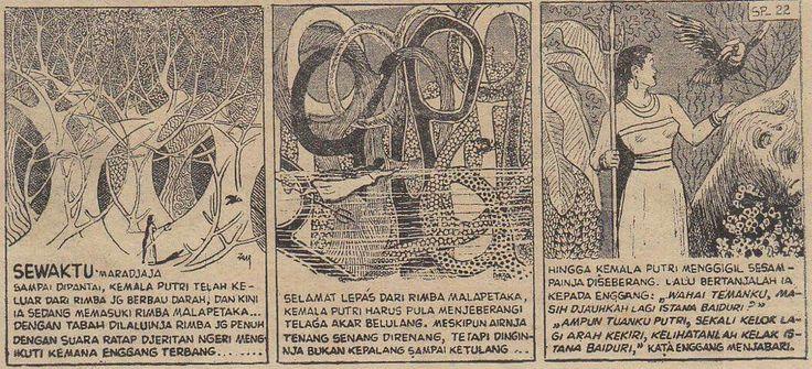 a page from Zam Nuldyn's SRI PUTIH TJERMIN (1950s). so surreal!