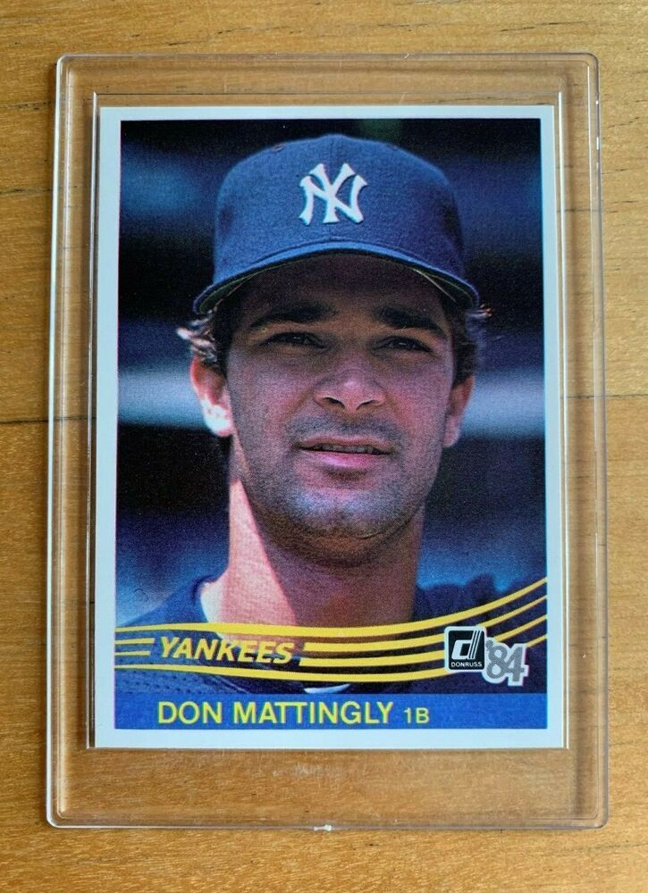 1984 donruss don manttingly rookie card rc 248 yankees