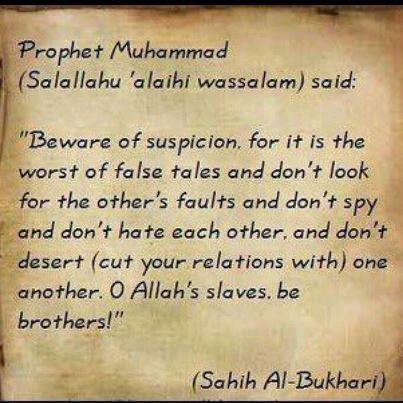 To husbands, beware of suspicion.  To wives, beware of suspicion   {http://www.PureMatrimony.com/}