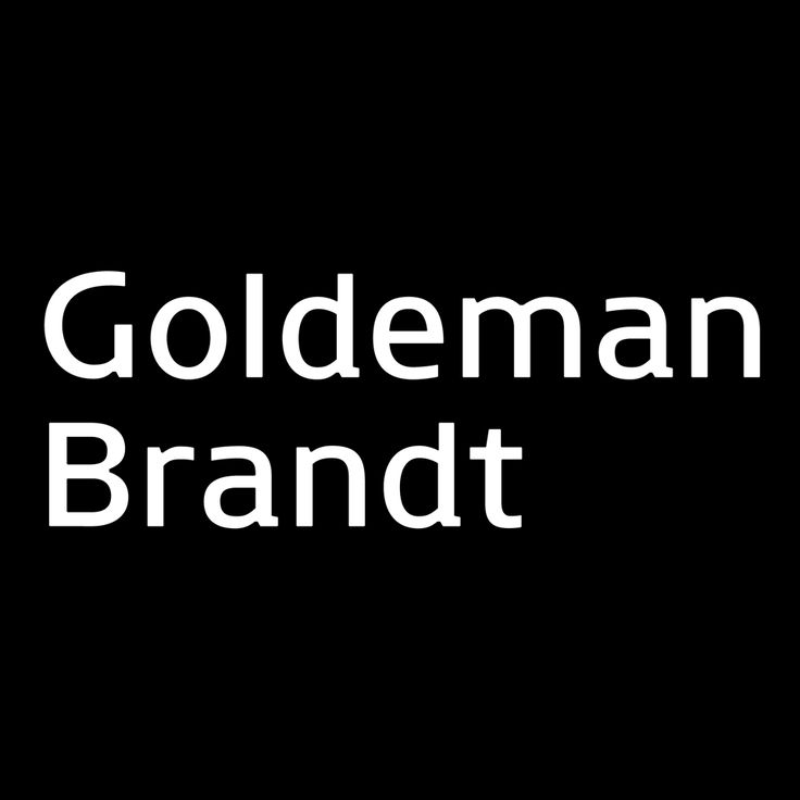 The Goldeman Brandt logo - By Danish typographer Janik Frithioff