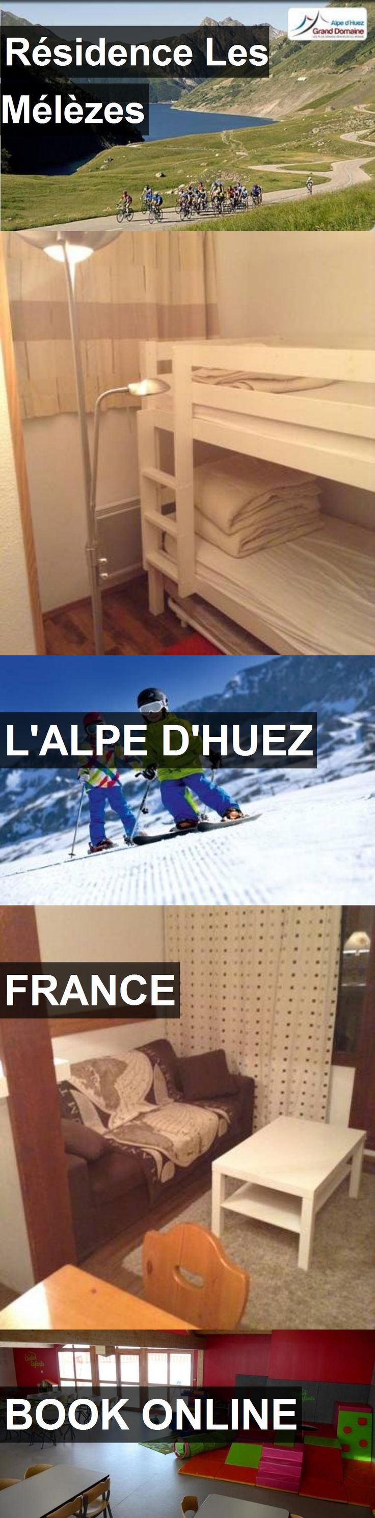 Hotel Résidence Les Mélèzes in L'Alpe d'Huez, France. For more information, photos, reviews and best prices please follow the link. #France #L'Alped'Huez #travel #vacation #hotel