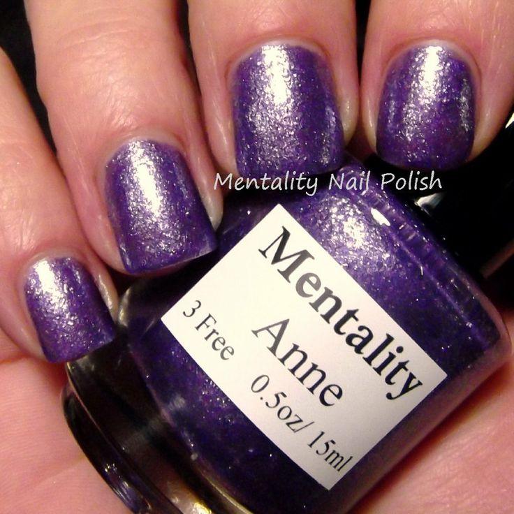 Mentality Nail Polish: Anne - Glass Fleck Jellies