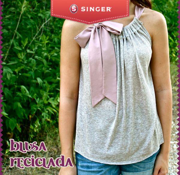 Blusa reciclada #moda #reparacion #yolohice #Singer