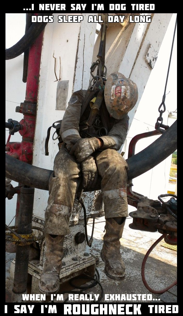 Where have you fallen asleep on the rig?