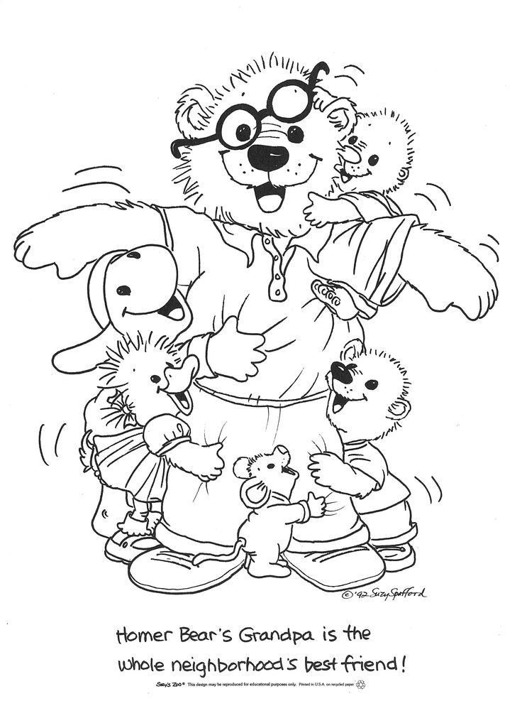 Suzys Zoo Coloring Pages Homer Bears Grandpa Zoo Coloring Pages Hello Kitty Colouring Pages Suzys Zoo