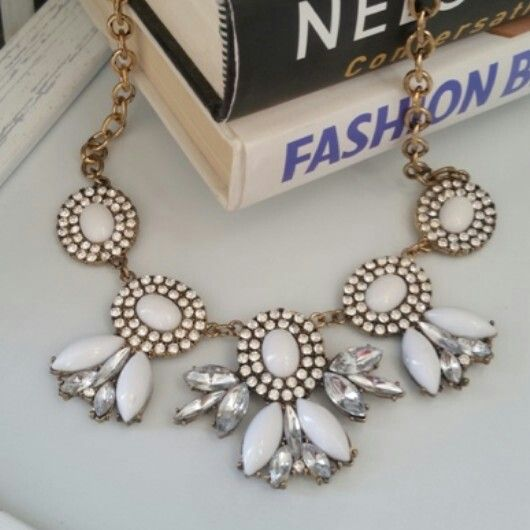 Snow White statement necklace from Zulu Lulu. Email zulululuza@gmail.com for the latest catalogue.