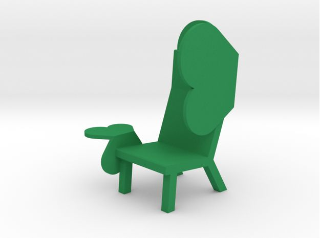3Dprinted miniature of the EMOJI CHAIR - WING // design rjw elsinga, sept 2015