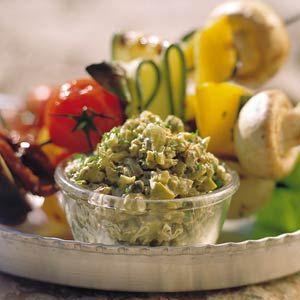 Recept - Olijvendip - Allerhande - Gebruik in plaats van mayo yoghurt en een eidooier.