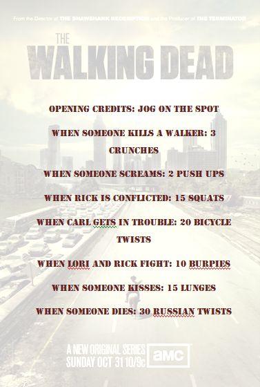 Walking Dead workout game