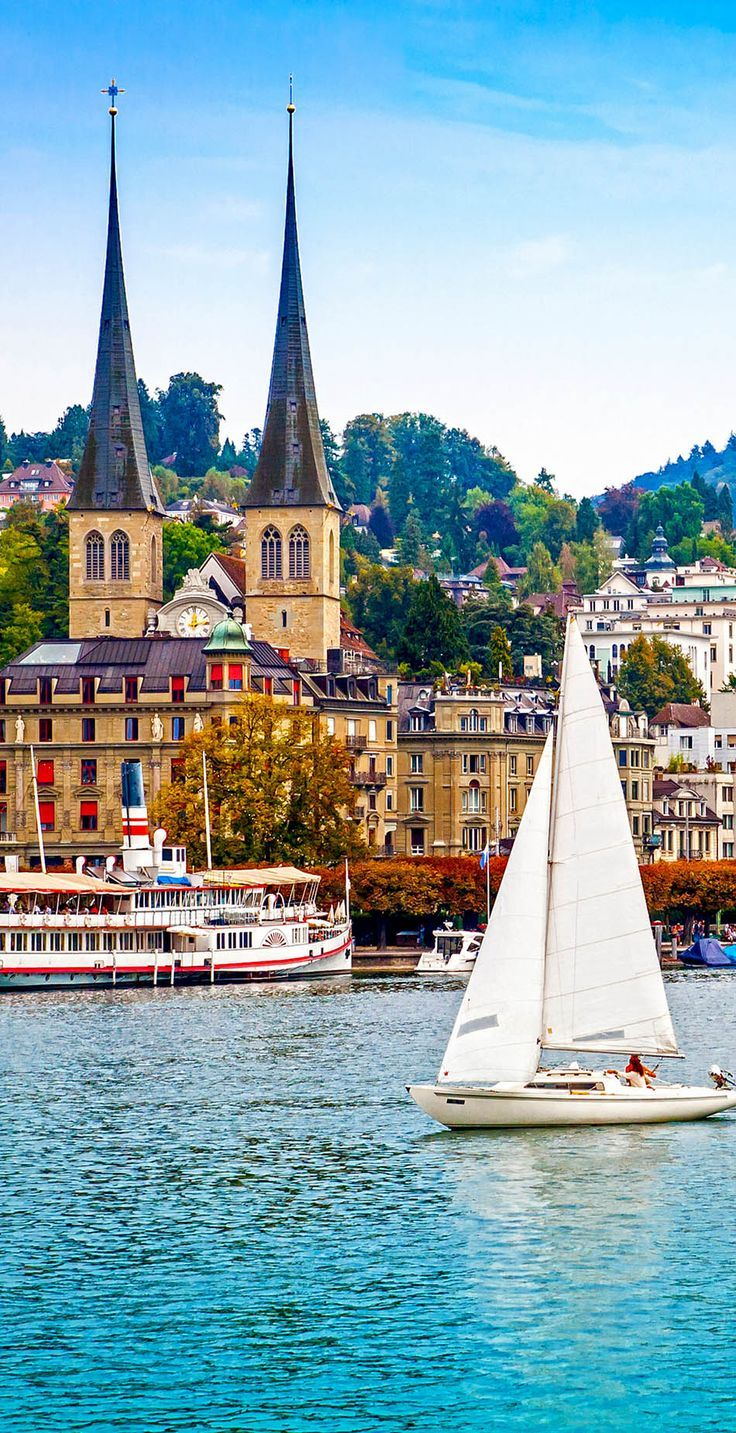 Cityscape of Lucerne, Switzerland  || Get travel tips and inspiration for your visit to Switzerland at http://www.holidaystoeurope.com.au/home/resources/destination-articles/switzerland