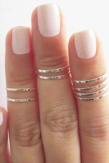 Silver Midi Rings(Set of 2) | Wild Daisy