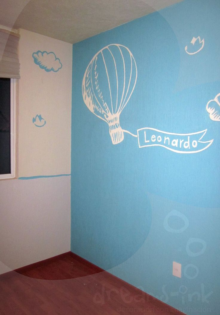 Un aire viajero para el pequeño leonardo #murals #decoracioninfantil #walldecals totalmente pintado a mano http://dreamsinkmurales.blogspot.mx/