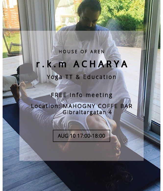 THURSDAY | MAHOGNY COFFE BAR Gibraltargatan 4.  FREE - see you at 17:00  #yogaeducation #yogateachertraining #ytt #rkmacharayayoga #hatha #matsyenasana #yogamakes #yoga #yogagöteborg #yogagothenburg