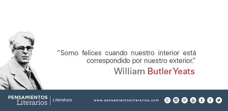 William Butler Yeats. Sobre cuando somos felices.