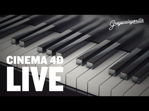 Make Piano Keys Using Cinema 4D And A Mograph Cloner. - YouTube