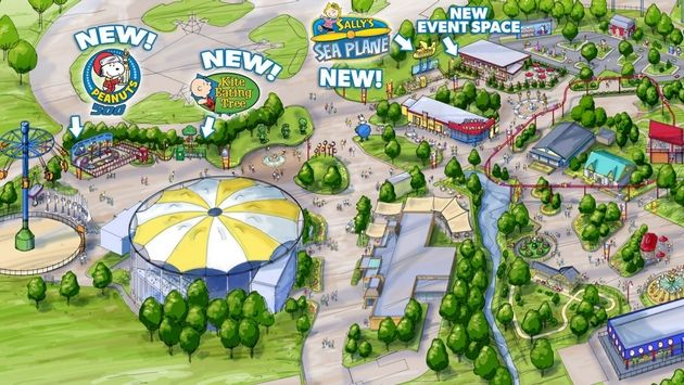 Kings Dominion Expanding Planet Snoopy Area of Theme Park