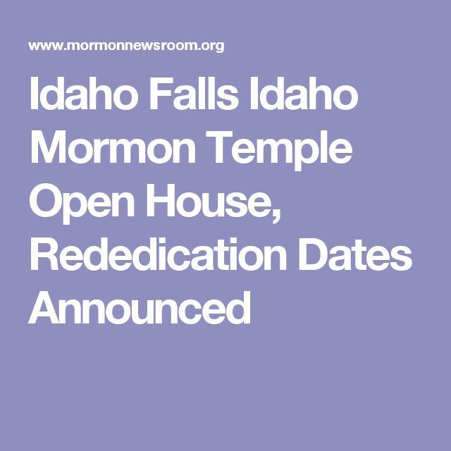 Idaho Falls Idaho Mormon Temple Open House, Rededication Dates Announced