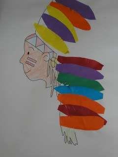 Indianen platte vlak knutselen » Juf Sanne