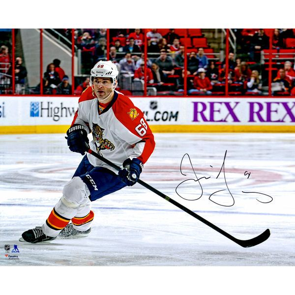 "Jaromir Jagr Florida Panthers Fanatics Authentic Autographed 16"" x 20"" White Jersey Skating Photograph - $109.99"